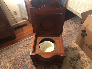 Stupendous Antique Chamber Pot And Commode Cabinet Other Items For Sale Machost Co Dining Chair Design Ideas Machostcouk