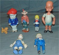 All Bisque Comic Character Figurine Lot
