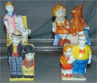 (4) Comic Character Toothbrush Holders