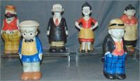 (6) Vintage Comic Character Bath Salt Figurals