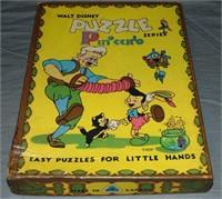 Vintage Disney Jig Saw Puzzle & Book Lot