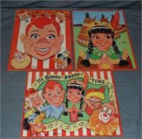 Howdy Doody Puzzle Lot, Milton Bradley