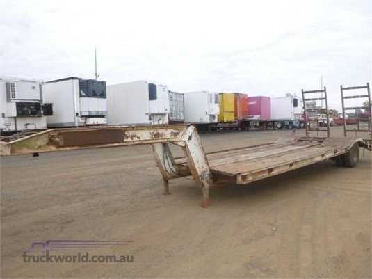 1988 Lusty Low Loader Trailer Western Traders 87 - Trailers for Sale