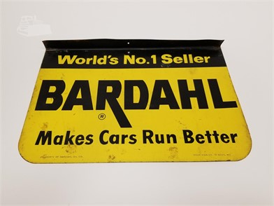 Vintage Double Sided Bardahl Oil Sign By Stout Other Items