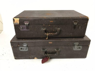 Phenomenal Vintage 40S Hartmann Luggage Trunks W Keys Other Items For Dailytribune Chair Design For Home Dailytribuneorg