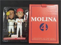 Yadier Molina & Roberto Clemente Bobble Heads