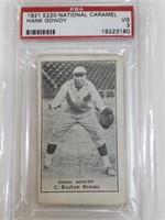 1921 E220 Hank Gowdy National Caramel PSA VG 3