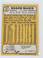 1968 Topps Roger Maris St. Louis Cardinals #330