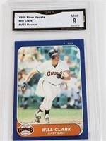 1986 Will Clark Fleer Update #U25 Rookie Mint 9