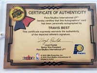 (2) NBA Game Used Jersey And Signature Cards