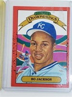(6) MLB Player Cards Bo Jackson Michael Jordan RC
