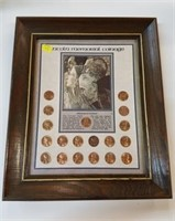 Lincoln Memorial Coinage Framed Coin Set