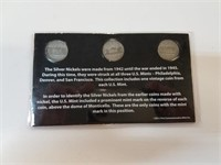 WWII Silver Nickel Mint Mark Collection Set