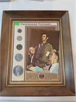 Presidential Portraits Framed Coin Set
