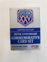 Super Bowl XXV Silver Commemorative Cards