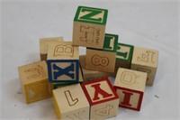 Childrens Wooden Toy Letter Blocks