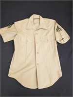 Corporal Infantry Military Button Down Shirt