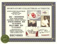 Billy Sims and Steve Owens signed Football