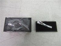 Tie Clip by Mark Ross - Brushed Silver Tone Tie