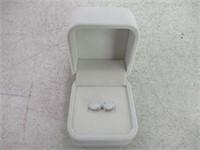 Oval White Opal Sterling Silver Stud Earrings