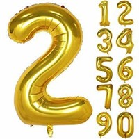 40 Inch Gold Large Numbers 0-9 Birthday Party