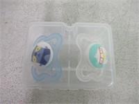 2 Pack Pacifiers - Racoon & Bird