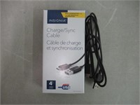 Insignia 4' USB 2.0 to Type C cable BLK