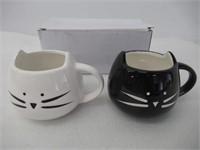 Koolkatkoo Cute Cat Ceramic Black & White Kitty