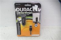 Duracell® DU5264 USB Car Charger With Sync &
