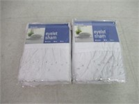 Fresh Ideas Eyelet Sham - Euro - White - 2 Pack