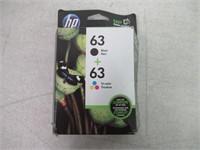 HP 63 Black + 63 Tri-Color Ink Cartridge
