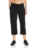 Hanes Women's X-Large French Terry Capri, Black