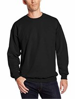 Hanes Men's Large Crew Neck Sweater, Black