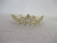 Sppry Women Tiara with Comb - Baroque AB Crystal