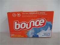 """As Is"" Bounce Fresh Linen Fabric Softener Dryer"