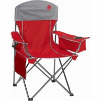 Coleman Oversized Quad Chair with Cooler, Holds up