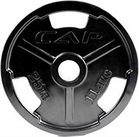 CAP Barbell 25 lb Black Olympic Rubber Grip Plate