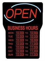 Royal Soverign® LED Open Sign With Business Hours