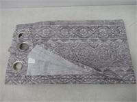 "Grommet Panel Xinnia Grey 52"" x 84"" in Length"