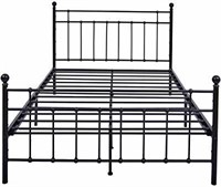 Metal Bed Frame Queen Size with Modern Style