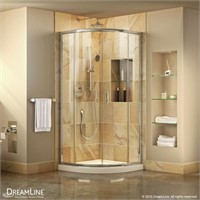 DreamLine Prime 33 in. x 74 3/4 in. Semi-Frameless