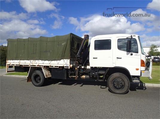 2006 Hino GT 1322 Crew Cab 4x4 Crane Truck Dual Cab