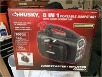 HUSKY 8 IN 1 PORTABLE JUMPSTART WITH HAND