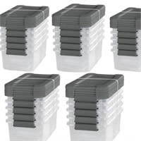 STERLITE 6-QT LATCHING BOX 5 PIECES,TOTAL 20 BOXES
