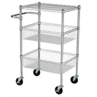 HDX 3-TIER MOBILE CART WITH CASTERS