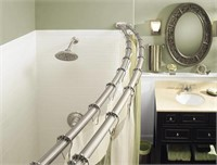 """MOEN DOUBLE CURVED SHOWER ROD 57"""" TO 60"""""""