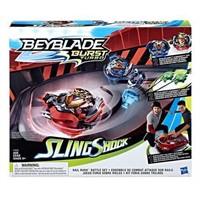 BEYBLADE TURBO RAIL RUSH BATTLE GAME SET