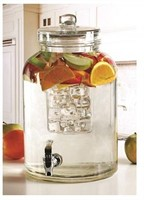 CIRCLE BRINGTON GLASS BEVERAGE DRINK DISPENSER