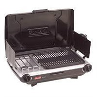 COLEMAN CAMP PROPANE 2 BURNER GRILL STOVE COMBO
