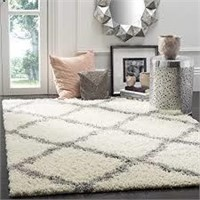 SAFAVIEH DALLAS SHAG COLLECTION IVORY AND